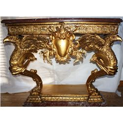 Eagle Console Table  Bronze and Marble From The 1850's