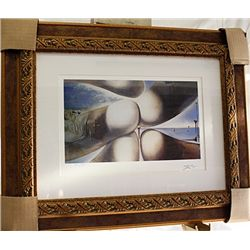 Salvador Dali Signed Limited Edition - Goddess Leaning On Her Elbow