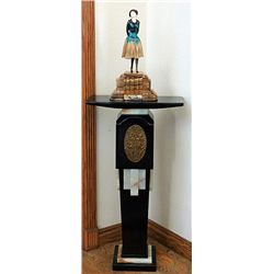 Signed Chiparus Bronze and Ivory - Simplicity with Pedestal