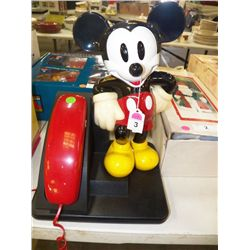 Mickey Mouse Telephone approx  10 X 16