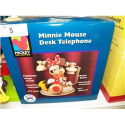 New In Box Minnie Mouse Desk Telephone