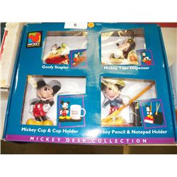 Mickey Mouse Desk Collection-Stapler, Tape dispenser, cup & cup holder,  pencil & notepad holder