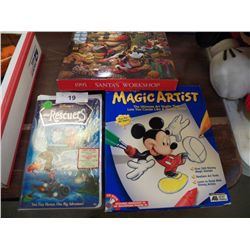 Mickey's Magic Artist & The Rescuers DVD Tape