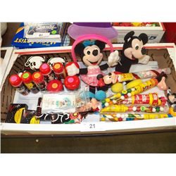 Misc. Lot of Mickey & Minnie Mouse Collectibles
