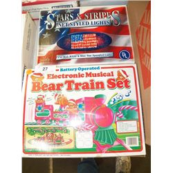 Electronic Musical Bear Train Set With Stars & Stro[es net style lights