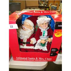 Animated Santa & Mrs. Claus
