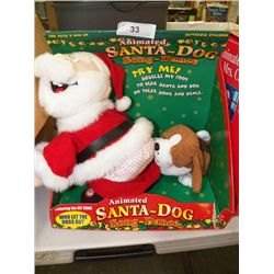 Animated Santa Dog