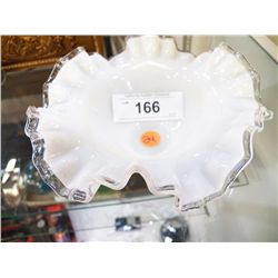 Fenton Ribbon Candy Dish