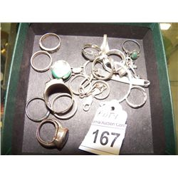 Misc. Lot of Rings---Some are Sterling Silver
