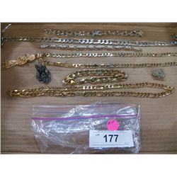 Misc. Lot of Costume Jewerly Necklace-Bracelets One has the Reeper Pendant