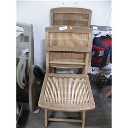 3- Wood Folding Chairs