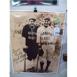 Babe Ruth & Lou Gerlring 11 x 14 Replica with COA