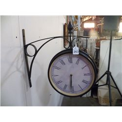 Metal Wall Clock Interior or Exterior Use