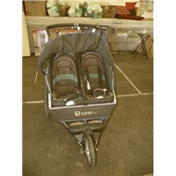 Childs Stroller 3 Wheeler for 2 kids