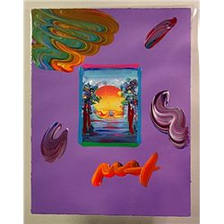 Original Handsigned Peter Max Overpaint -Better World