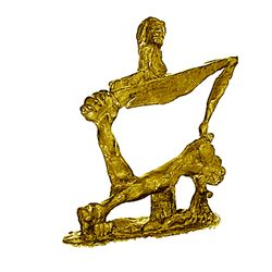 Salvador Dali Magnificent Original, 24K Gold limited Edition Bronze - Soft Construction With Boiled