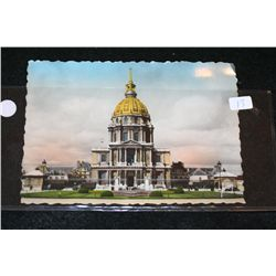 "Vintage Parisian Post Card ""Strolling Dome of Paris"""