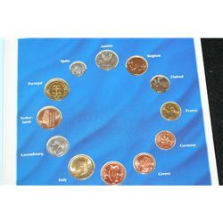 Euro-Zone Countries Collection of the last National Coins; Lot of 12