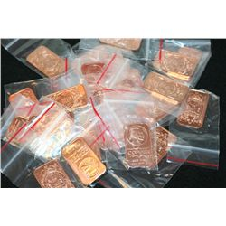 2012 Copper Ingot; .999 Fine Copper 1 Oz.; Lot of 25