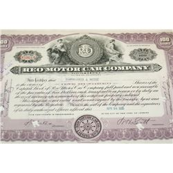 Reo Motor Car Company Stock Certificate Dated 1935
