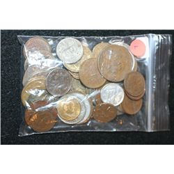 Foreign Coin & Token; Various Dates, Conditions & Denominations; Lot of 50