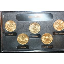2006-D US Mint State Quarter Set; BU, Layered in 24K Gold
