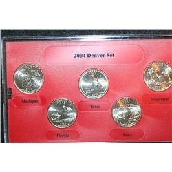 2004-D US Mint State Quarter Set; BU, Denver Mint Edition