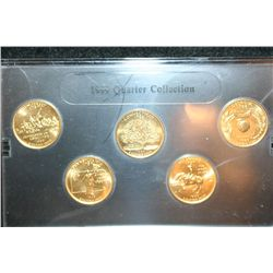 1999-D US Mint State Quarter Set; BU, Layered in 24K Gold