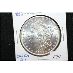 1883-O Silver Morgan $1; Choice BU