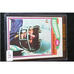 1977 NFL Topps Steve Largent-Seattle Seahawks Rookie Football Trading Card