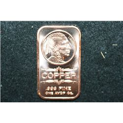 2012 Copper Ingot; .999 Fine Copper 1 Oz.