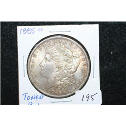 1885-O Silver Morgan $1; Toned BU