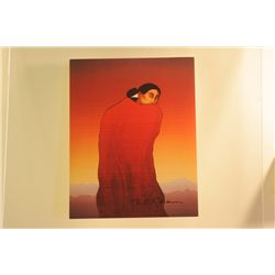 Original Hand Signed Lithograph by R.C. Gorman titled  Desert Madonna