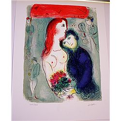 Beautiful Original Signed Limited Edition Lithograph by Marc Chagall