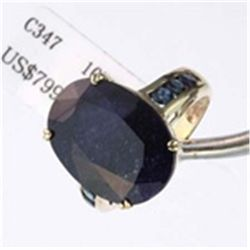 Genuine Sapphire Ring in 10K Gold