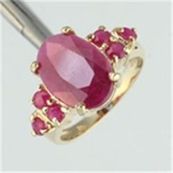 Genuine Ruby Ring in 10K Gold