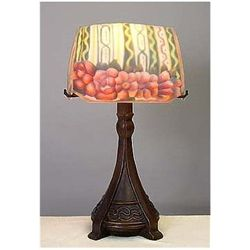 Attributed to Pair Point Floral Table Lamp