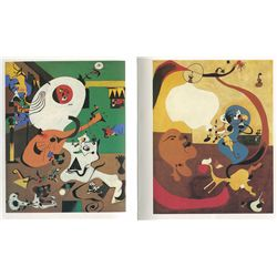 Green Dutch Interior I and II - Miro - Limited Edition on Canvas