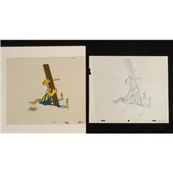 Crazylegs Crane Original Drawing Cel Animation Stuck