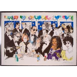 Celebrity Night at Spago Signed LeRoy Neiman Art Print