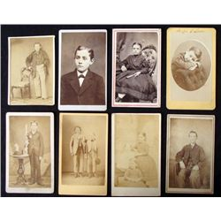 8 Antique CDV Portrait Photos Children Boys, Girls