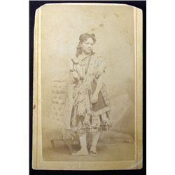 Antique CDV Photo African American in Fancy Dress