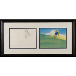 Donald Duck Orig Animation Production Cel & Drawing Frm