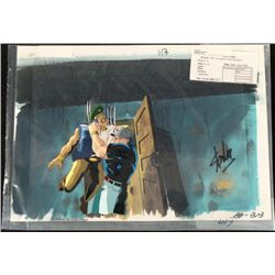 X-Men Signed Cel Original Animation Background Stan Lee