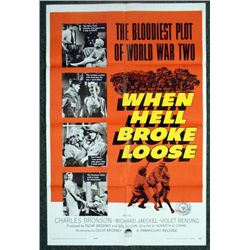 When Hell Broke Lose Movie Poster 1958 Charles Bronson