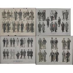 4 Vintage Advertising Art Prints Mens Fashion NY 1920s-