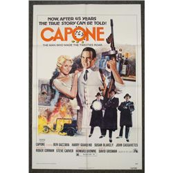 Capone Original 1 Sheet Mobster Movie Poster 1974