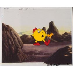 Pac Man Cartoon Hand Painted Animation Production Cel