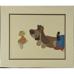 Rock-A-Doodle Orig Animation Production Cel Dog & Cat