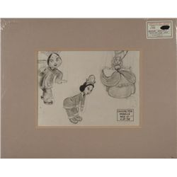 Pinocchio Disney Orig Production Photostat Model Drawn